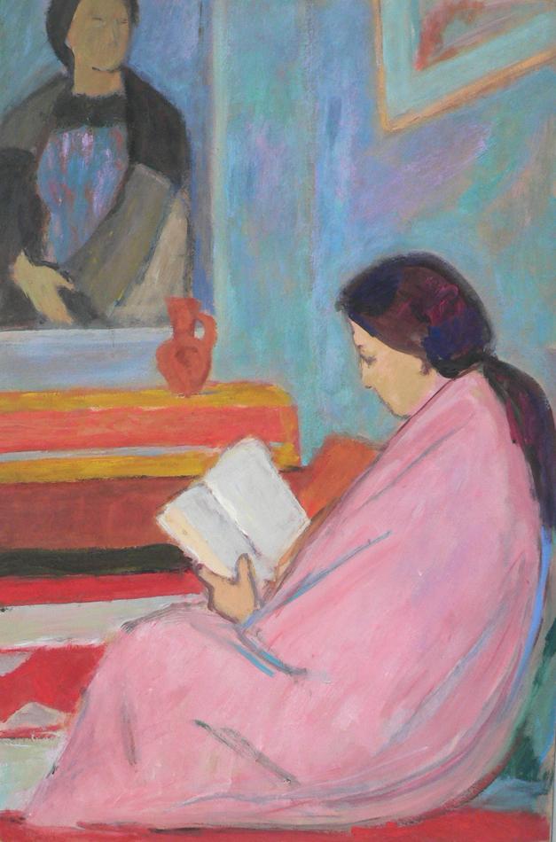 In reading.