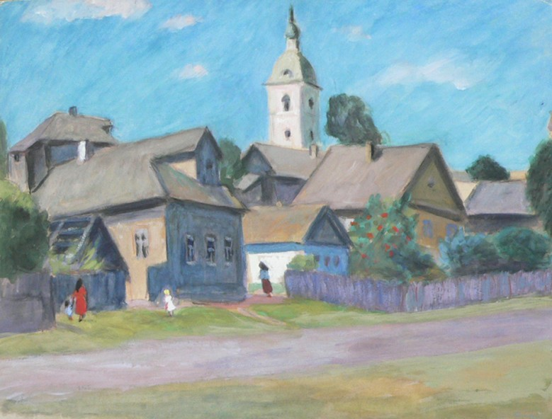 Landscape with church.