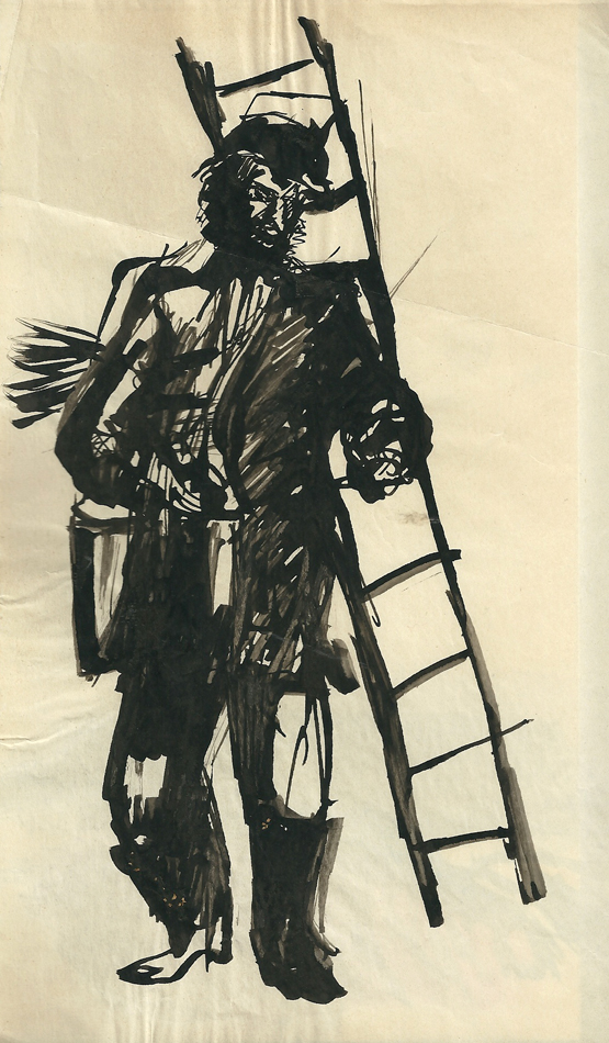 Chimney-sweep, artwork for the magazine «Pioneer»