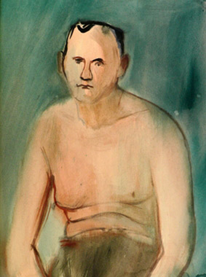 Мужской портрет (Полуобнаженный).