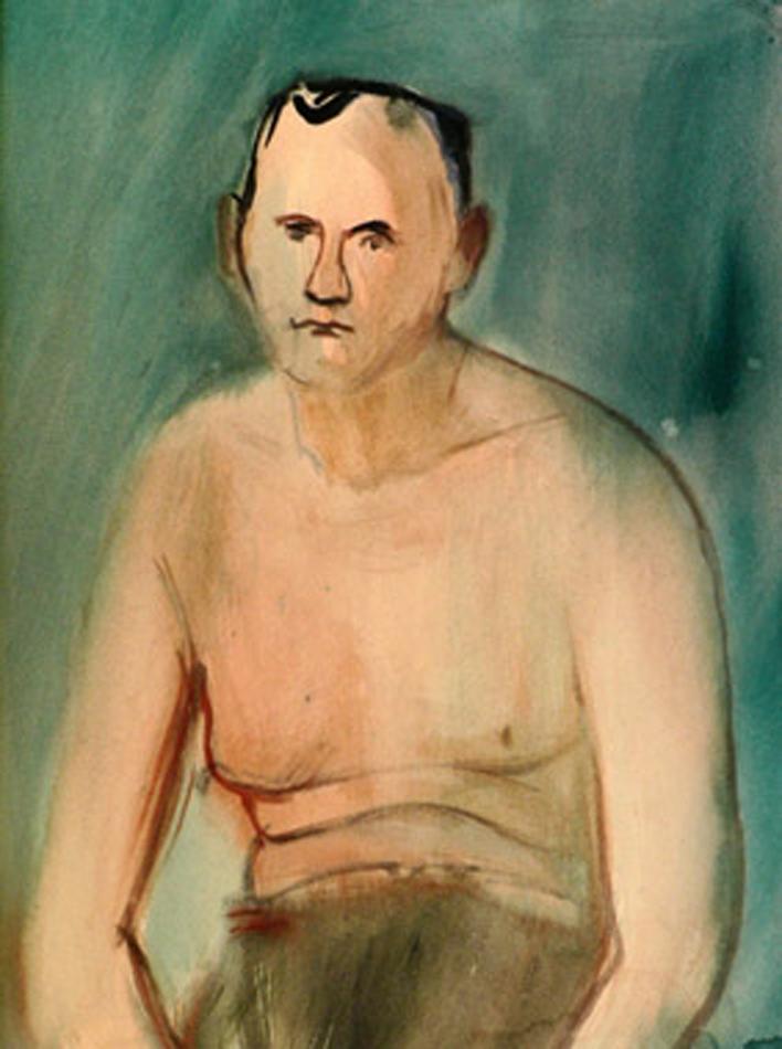 Portrait of a man (seminude)