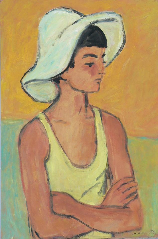 Boy in a hat.