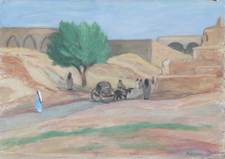 Landscape with araba cart