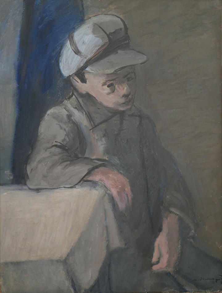 Boy at the table.
